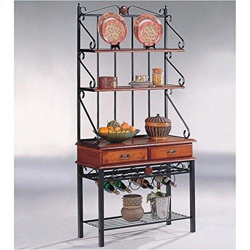 Target Marketing Systems Ian Collection 5 Piece Indoor: International Caravan Mandalay Iron 5-Tier Bakers Rack In
