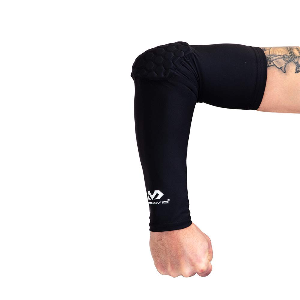 a116bb334b Amazon.com : Mcdavid 6500 Hex Padded Arm Sleeve, Compression Arm Sleeve w/ Elbow  Pad for Football, Volleyball, Baseball Protection, Youth & Adult Sizes, ...