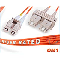 OM1 LC SC Duplex Fiber Patch Cable 62.5/125 Multimode - 4 Meter