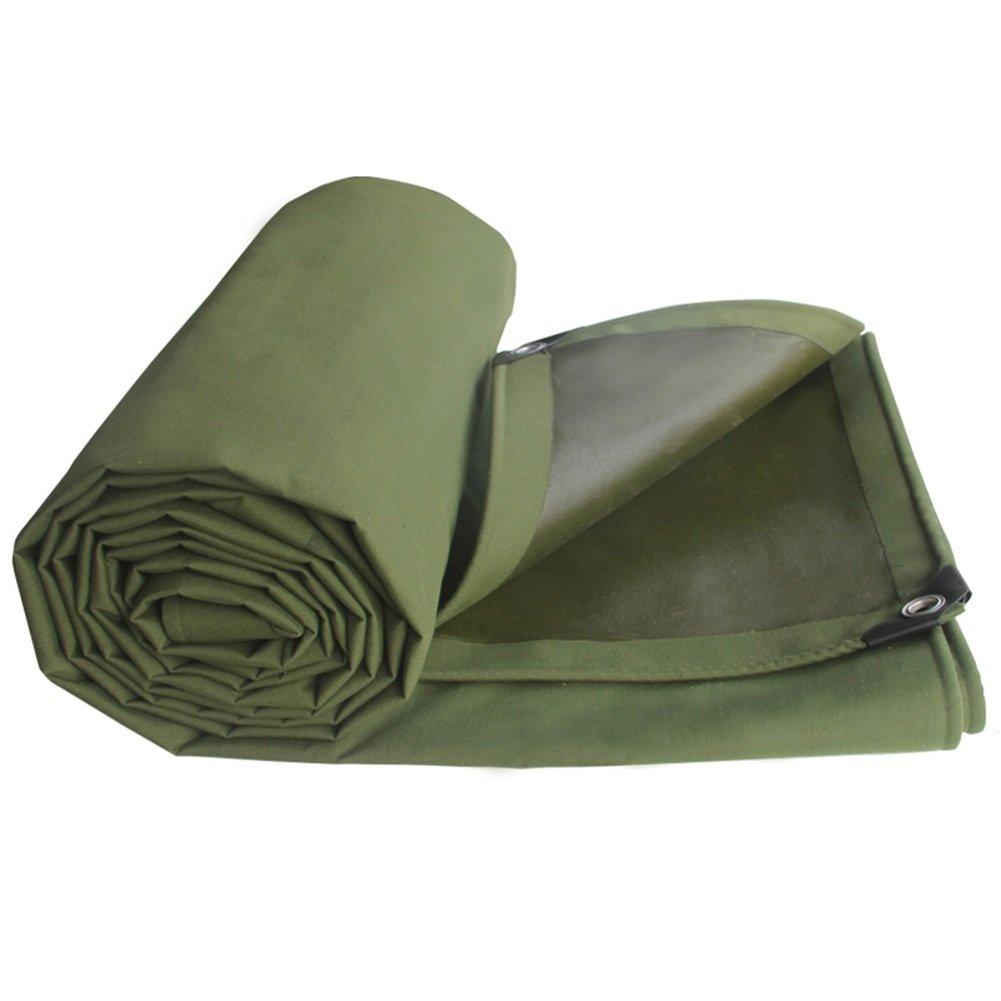 LIANGJUN オーニング 日よけ 高強度 コットンキャンバス 厚い 耐寒性 UVプロテクト テント布 アウトドア 655g/m²、 アーミーグリーン、 5サイズ ( サイズ さいず : 4X5m ) B07CN9RKZD