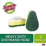 Scotch-Brite Dishwand Refill, 2 Pack, Heavy Duty, Replacement Dish Brush Head