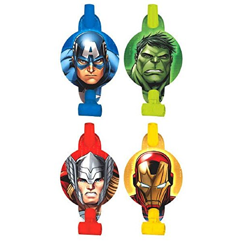 [8-Piece Avengers Blowouts, Multicolored] (Incredible Hulk Costume Ideas)