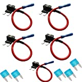 Etopars™ 5 X Car Vehicle 12V 24V ATM APM Add A Circuit Fuse Tap Piggy Back Mini Fuse Style Blade Holder 15A