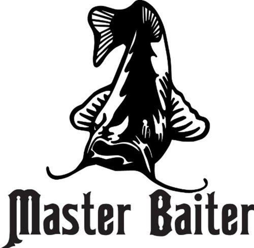 Design with Vinyl Design 158 Master Baiter Catfish Animal Peel and Stick Vinyl Wall Decal Sticker, 20-Inch By 20-Inch, ()