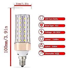 ILAMIQI E12 LED Bulbs Dimmable,10W LED Candelabra