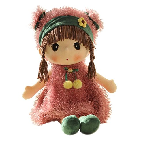 HWD 24'' Kawaii Plush Girl Toys Doll , Good Dolly Gifts for Children Kids Baby .(Pink)