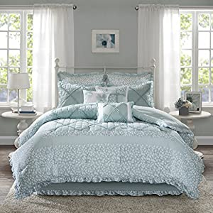 Madison Park Mindy 9 Piece Cotton Percale Comforter Set
