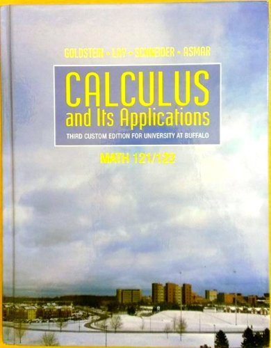 Calculus and Its Applications (Third Custom Edition for University At Buffalo)