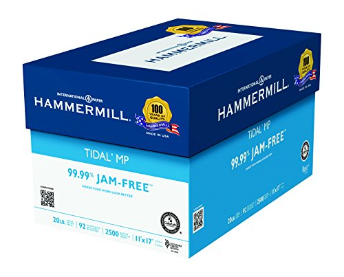 Hammermill Paper, Tidal MP Paper, 20Lb., 11 x 17,Bright, 2,500 Sheets / 5 Ream Case, Made In The USA (2500 Sheet Multi Purpose Paper)
