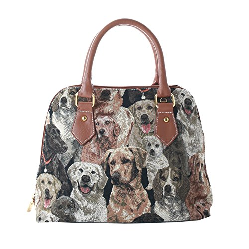 Shoulder Handle Dog Handbag Women Signare Bag Labrador LAB Bag Body Tapestry Top Cross CONV qXwpt