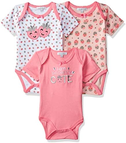 4a1f18928d012 Mother's Choice Baby Girls' Regular Fit Romper Suit (Pack of 3)(IT9619_Pink
