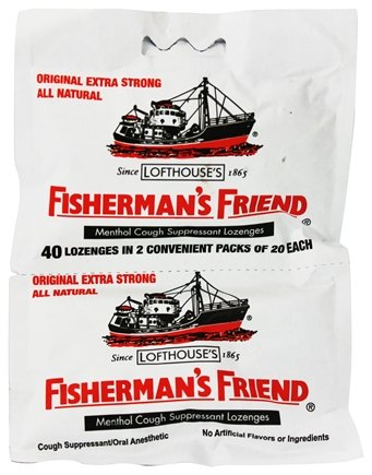 Fisherman's Friend - Menthol Cough Suppressant Lozenges Original Extra Strong 2 Pack - 40 Lozenges.Pack of 3