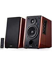 Edifier R1700BT Bluetooth Bookshelf Speakers - Active Near-Field Studio Monitors -Powered Speakers 2.0 Setup Wooden Enclosure