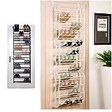 36Pair Over-The-Door Shoe Rack Wall Hanging Closet Organizer Storage Stand