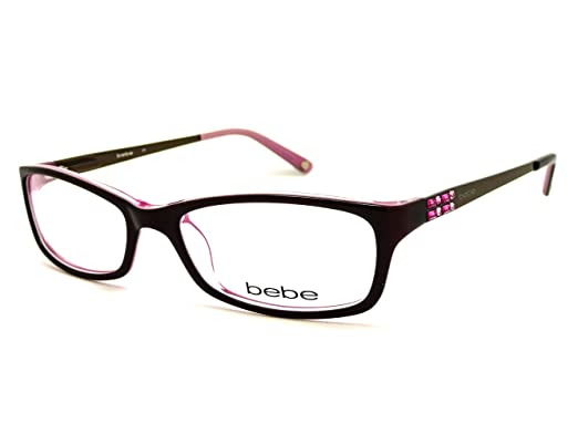 ba0d68cdcbce BEBE Eyeglasses BB5044 607 Brown Rose 53MM at Amazon Men's Clothing ...