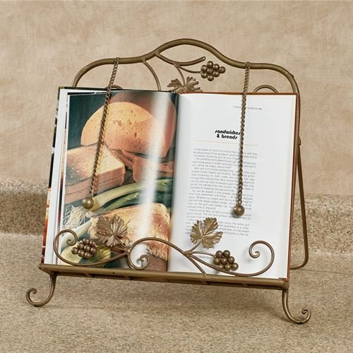 Touch of Class Grapevine Cookbook Holder Satin Gold by Touch of Class
