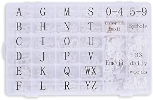 Letter Board Letters, 558 PRE-Cut Characters (3/4 and 1 Inch, White) in Organizer Box