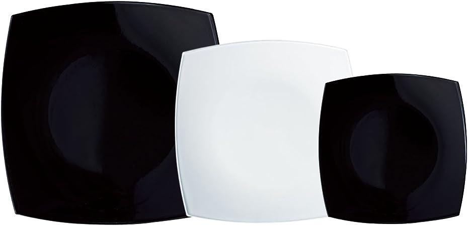 Luminarc Vajilla Cuadrada 18 Piezas Más Ensaladera Modelo Quadrato ...