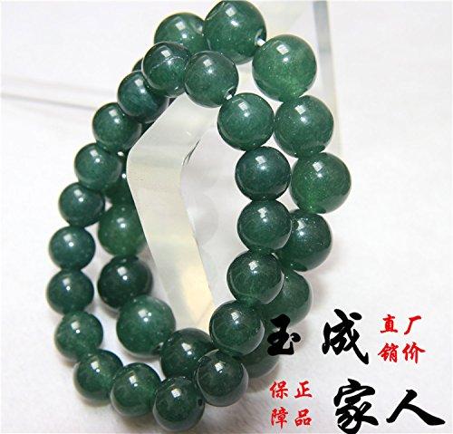 - Natural genuine emerald green oil grade quartzite jade bracelet 1012 men and women bead bracelets fine fashion