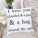 Aoesila Cotton Flannel Square Home Decorative Throw Pillow Case Sofa Waist Cushion Cover18 x 18 Inch,43cm44cm