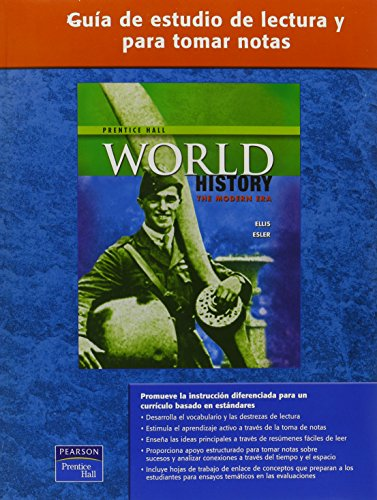 WORLD HISTORY SPANISH READING AND NOTE TAKING STUDY GUIDE MODERN 2007C