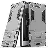 xperia sl case cover - Xperia XZ1 Case, CoverON Shadow Armor Series Modern Style Slim Hard Hybrid Phone Cover with Kickstand Case for Sony Xperia XZ1 - Silver