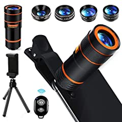 Warm Tips: 1. Better take off the case before using. 2. Please wipe clean telephoto lens first. 3. If there is vignetting appears on the phone, please re-adjust the clip. 4. Make sure the cell phone camera lens center overlap & parallel w...
