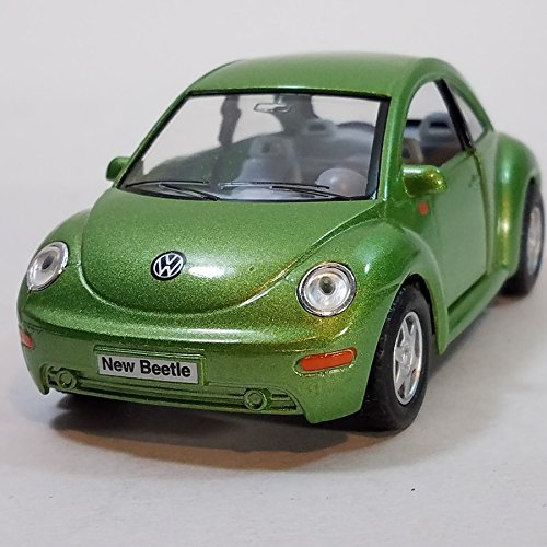 Kinsmart Lime Green VW Volkswagen New Beetle 1/32 Diecast Car