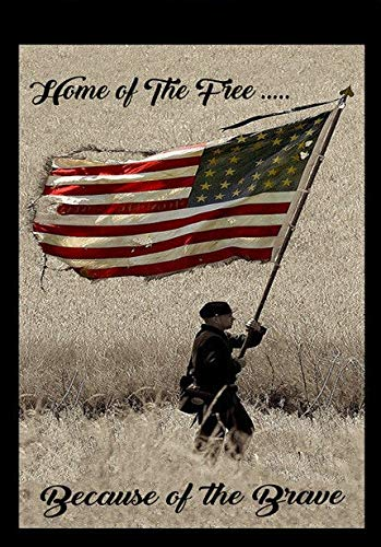 Home Of The Free Because Of The Brave Decorative Garden Flag Double Sided 12 X 18 Inches Buy Online In Dominica At Dominica Desertcart Com Productid 156148551