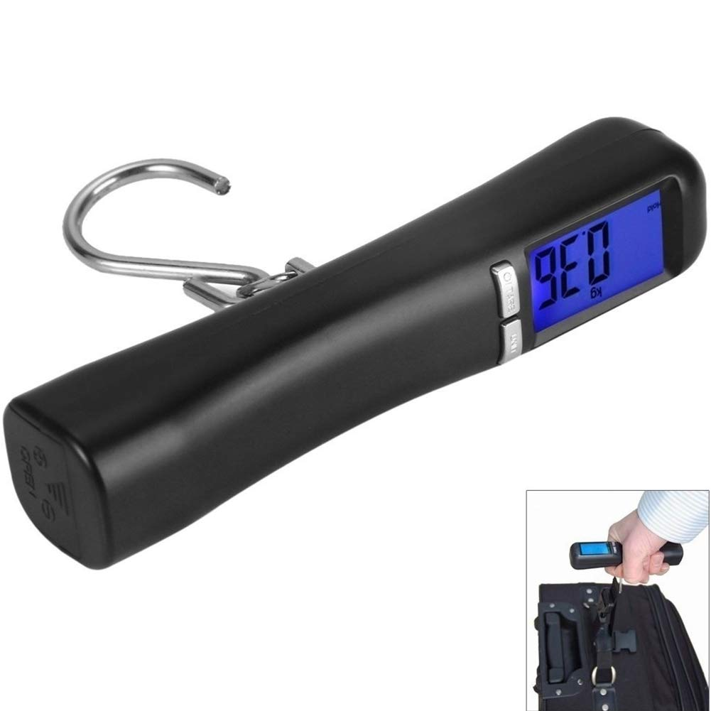 Fishing Scale 110Lb / 50Kg, Backlit LCD Screen Portable Electronic Balance Digital Hook Hook Suspension Scale LCD Display Balance Hook for Outdoor Fishing by LYA