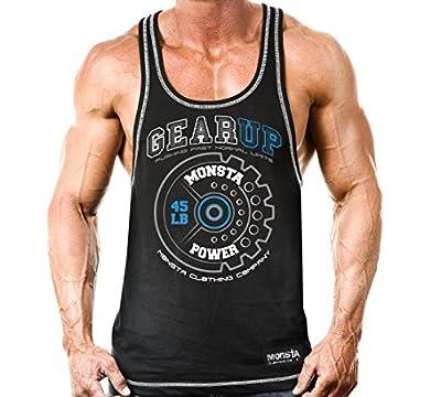 Monsta Clothing Co. Men's GearUp:MonstaPower-(MRCBK218) TankTop