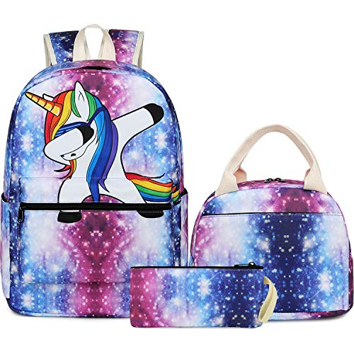 School Backpack Galaxy Teens Girls Boys Kids School Bags Bookbag with Laptop Sleeve Galaxy (Galaxy Brands Bag)