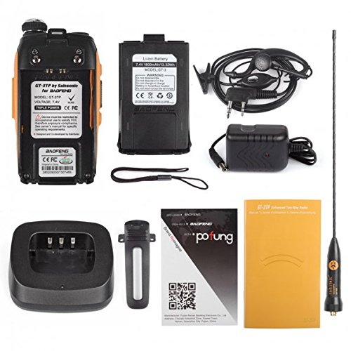 5 Pack Baofeng Pofung GT-3TP Mark-III Tri-Power 8/4/1W Two-Way Radio Transceiver, Dual Band 136-174/400-520 MHz True 8W High Power Two-Way Radio, with 23CM High Gain Antenna, Upgraded Chip + 1 Programming Cable Included by BAOFENG (Image #7)