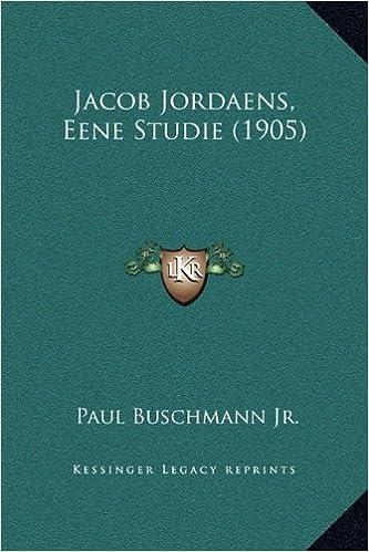 Book Jacob Jordaens, Eene Studie (1905)