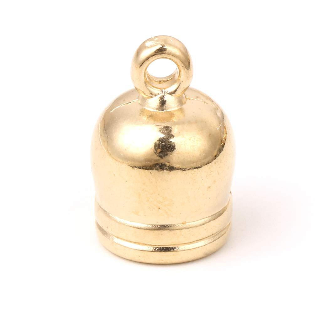 Gold 50x Quaste Kappen Lederschnur Endkappen Schmuckherstellung f/ür DIY Zubeh/ör 6-10mm JunYe Quastenm/ützen 6mm
