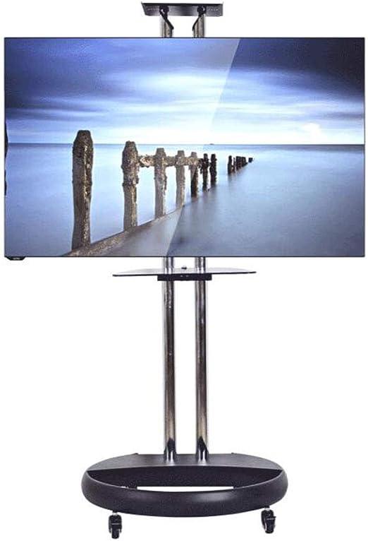 Xue Mobile TV de Pantalla de stoor Stand, TV de Carro para 32 – 65 Pulgadas LED LCD Plasma TV Pantallas Planas Wire Gestión Height Adjust 360 º of Swivel Bedroom Aula