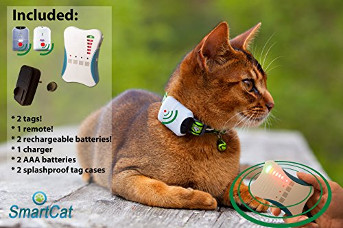 SmartCat-Petfinder-M600-a-pet-tracker-for-cats-and-dogs-smallest-tags-weighs-only-5-grams-with-a-range-up-to-600m-2-tags-rechargable-batteries-for-the-tags-included