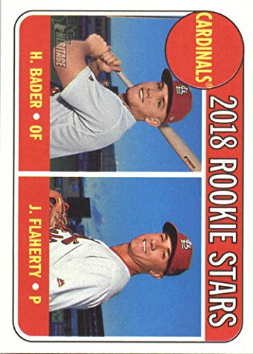 (2018 Topps Heritage #136 Harrison Bader/Jack Flaherty St. Louis Cardinals Rookie Baseball Card)