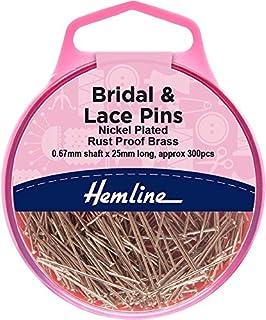 Hemline Short Brass Craft Pins H712