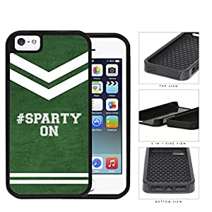 Hashtag Sparty On School Spirit Slogan Chant iPhone 5 5s 2-piece Dual Layer High Impact Black Silicone Cover