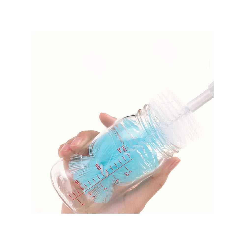 1 Box Baby Flaschenb/ürsten-Set 6-in-1 Multifunktions-Reinigungsb/ürste Pratikel Saugerb/ürste Austauschbarer B/ürstenkopf f/ür Brillen Tasse Wasserflasche Babyflasche Reinigung
