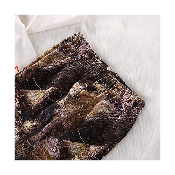 Geagodelia Set di Abbigliamento per Bambini Neonato 3 Pezzi Completi Pagliaccetto Pantaloni Cappello Autunno Inverno 5