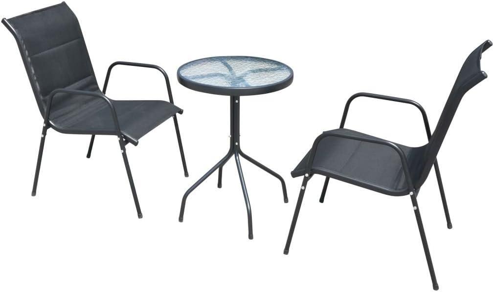 vidaXL Gartenmöbel Set 3-TLG. Bistroset Balkonset Balkonmöbel Sitzgruppe