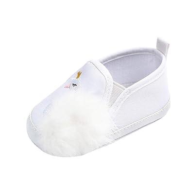 7df4e6011354b LuckyGirls Chaussures bébé Cuir Souple-Chaussons Bébé-Nouveau-né bébé  Couleur Bonbon rayé Chaussures Premiers Pas 0-6