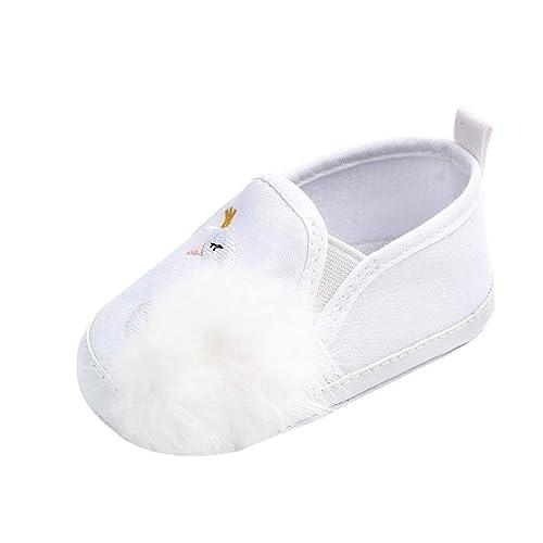 Mitlfuny Niños Primavera Verano Zapatos Primeros Pasos para bebé Niñas Zapato de Lona Bordado de Cisne