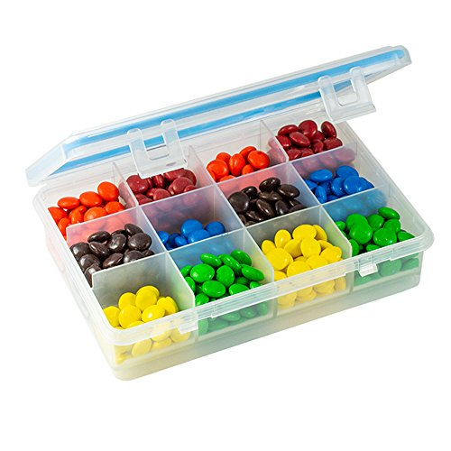 Gms 12 Compartment Pill and Vitamin Organizer - Durable Heavy Duty Plastic with Moisture-Proof Silicone Gasket Seal by GMS Group Medical Supply, LLC
