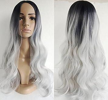 Wiged Perruque Femme Cheveux Longs Noir Mat