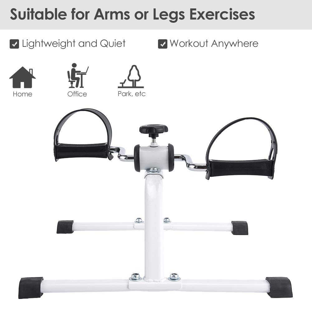 Synteam Compact Pedal Exerciser Under Desk Low Impact Bike Exercise Machine for Arms Legs by Synteam (Image #2)