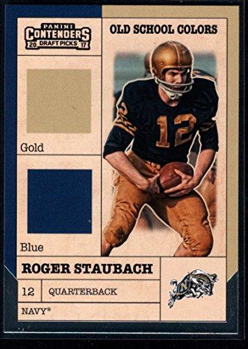- 2017 Panini Contenders Draft Picks Football Old School Colors #15 Roger Staubach