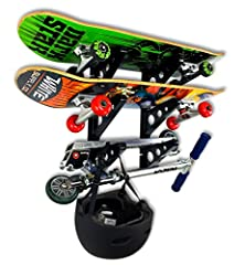 Made by the leader in outdoor sports storage, StoreYourBoard, this Skateboard Rack is the perfect rack for your all your skateboards and garage gear. Simple, effective design: Store, organize, and display all skateboards, including street, co...